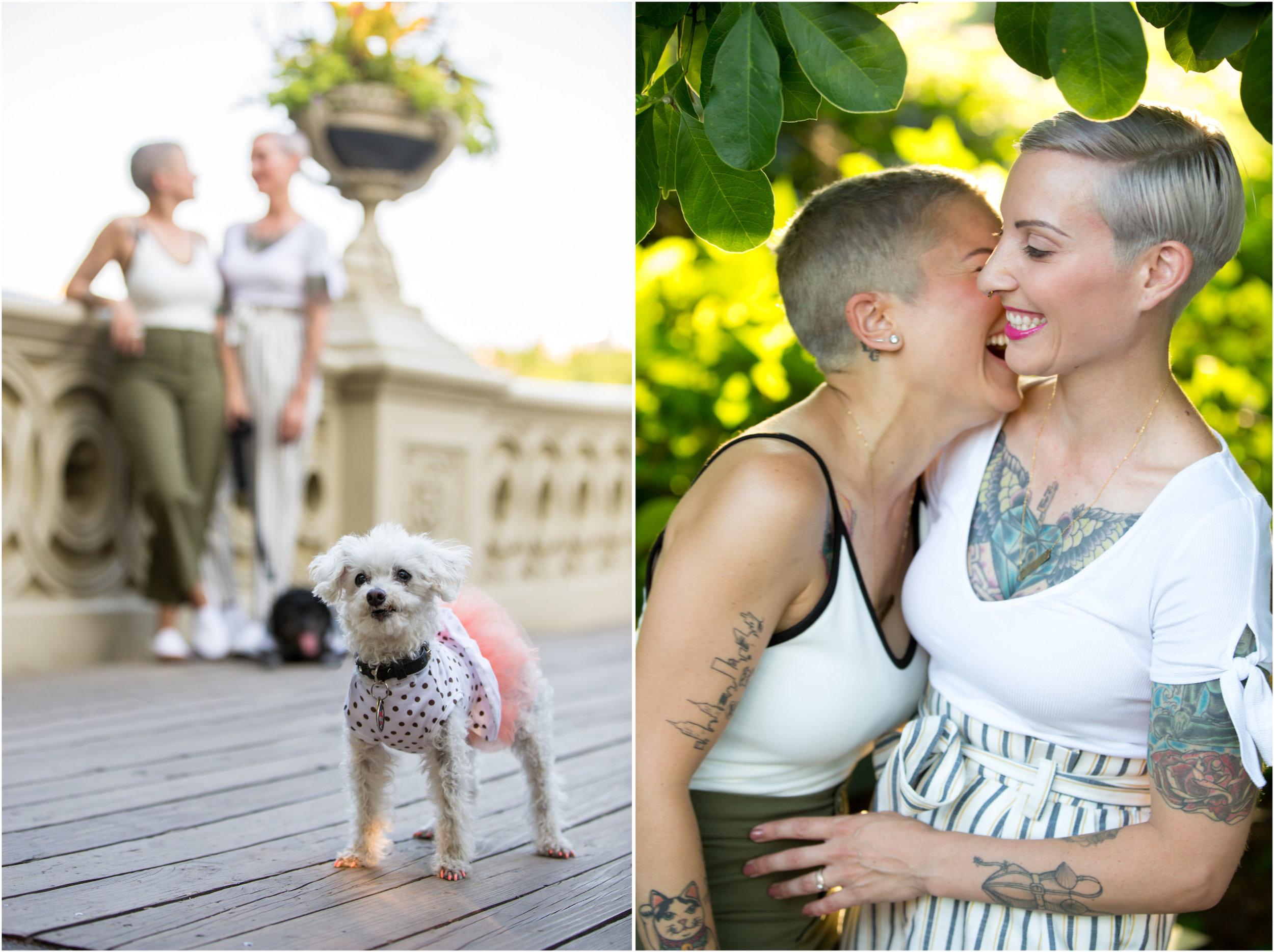 NYC Engagement Photo Session Shoot Central Park Same Sex Lesbian Dog Photographer-10.jpg