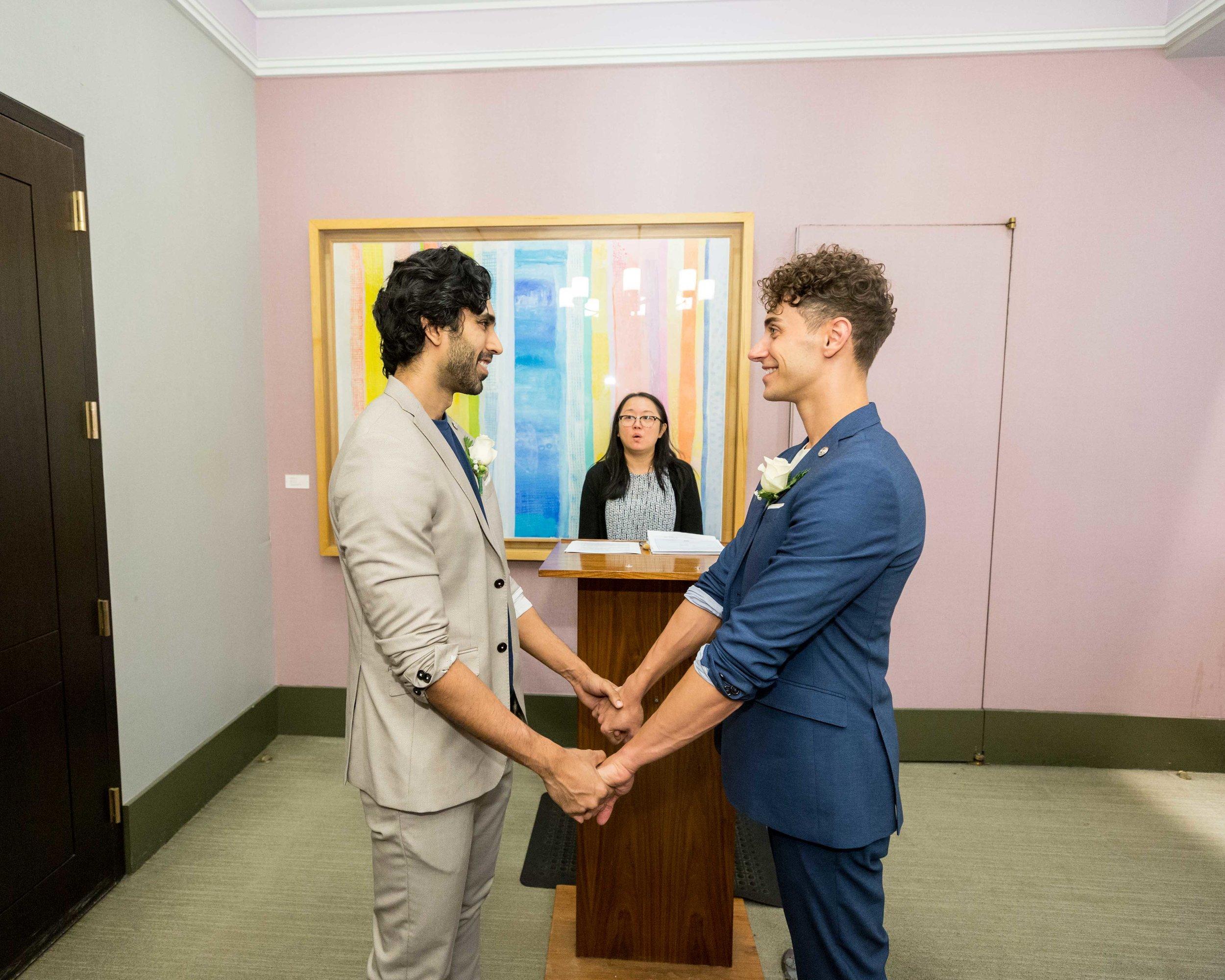 NYC Wedding Photographer City Hall Same Sex Fort Tryon Park
