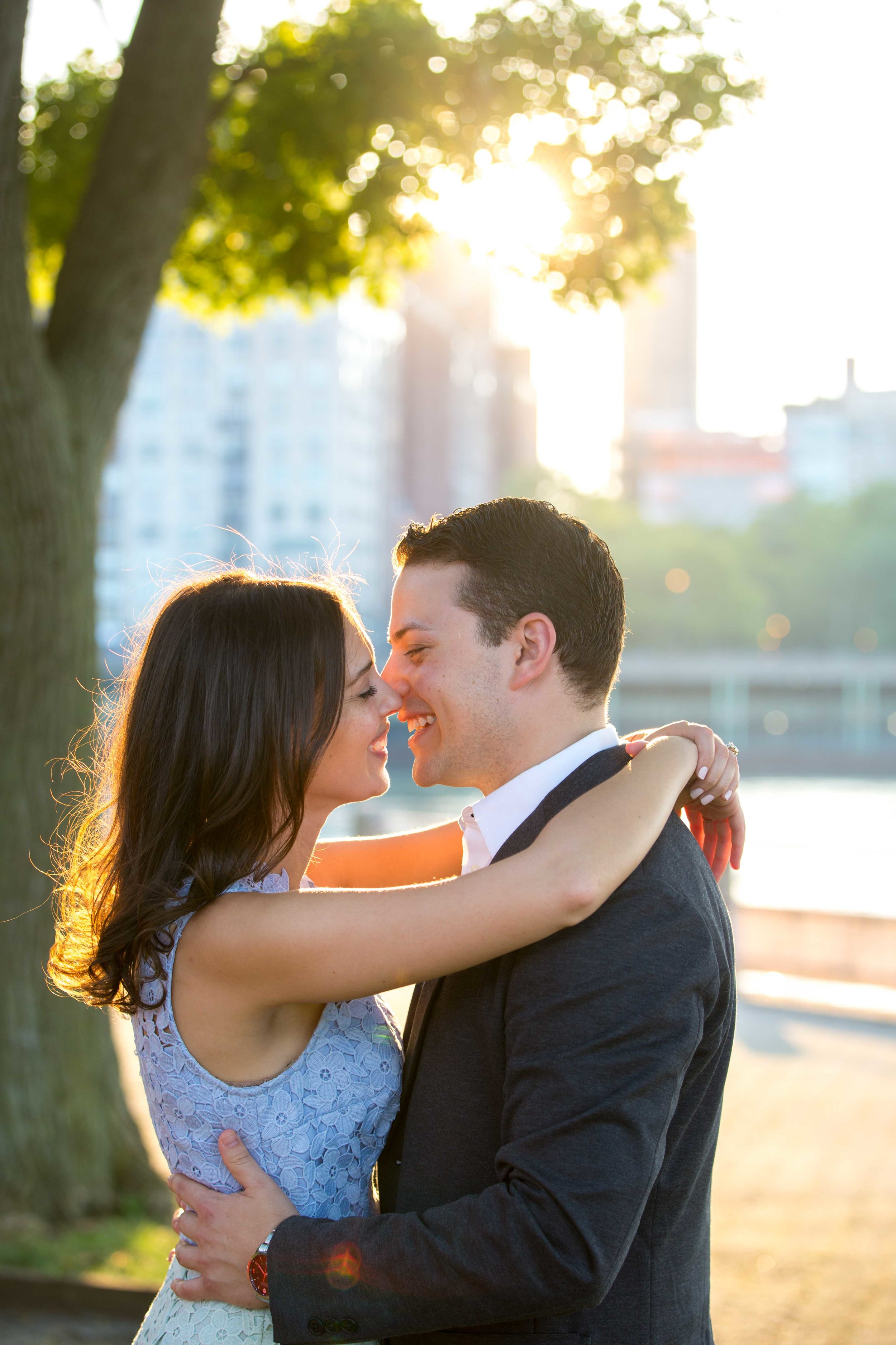 NYC Wedding Photographer Roosevelt Island Engagement Photos Photo Shoot Session
