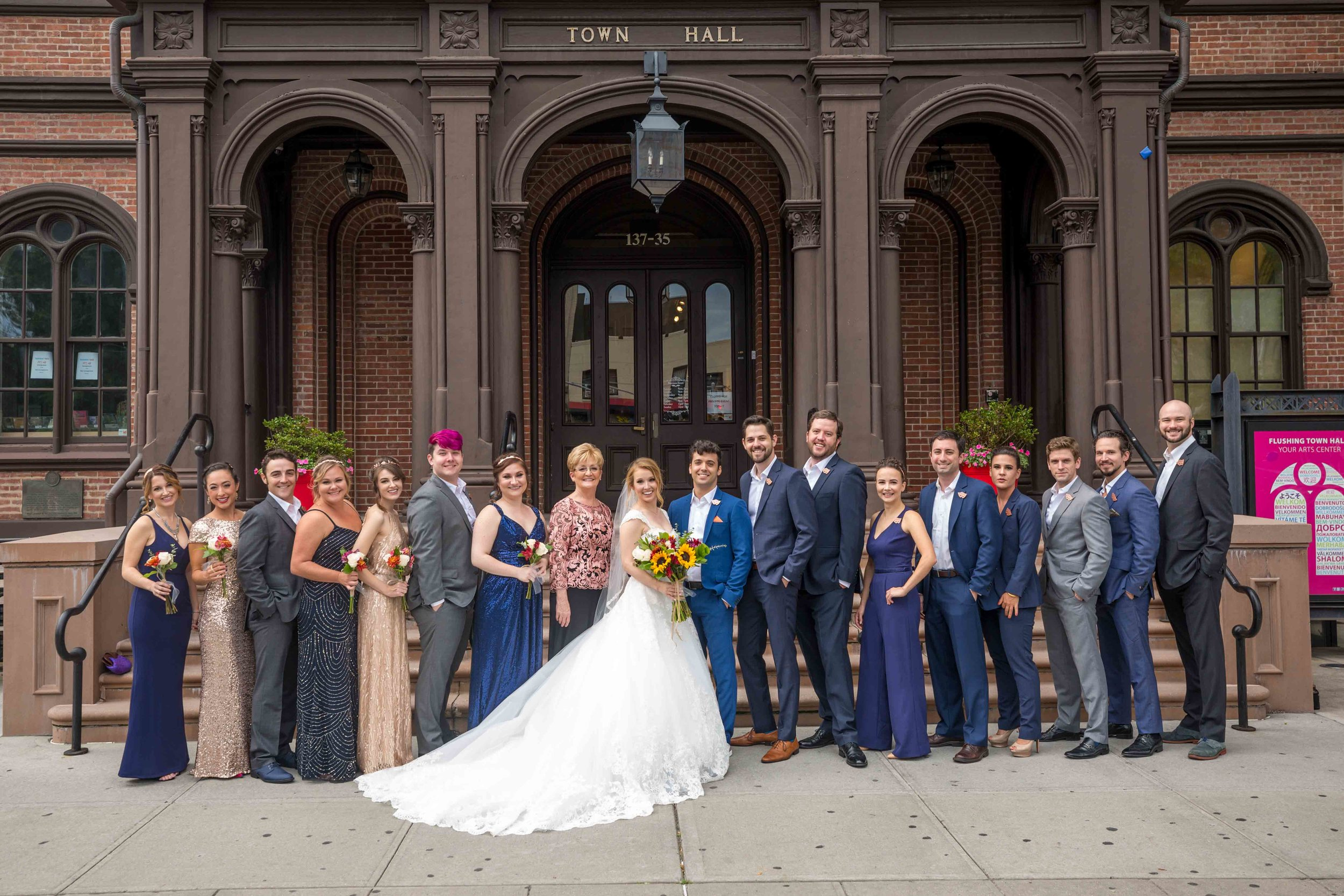 Flushing Town Hall Musical Theatre Wedding Queens NYC Photographer-41.jpg
