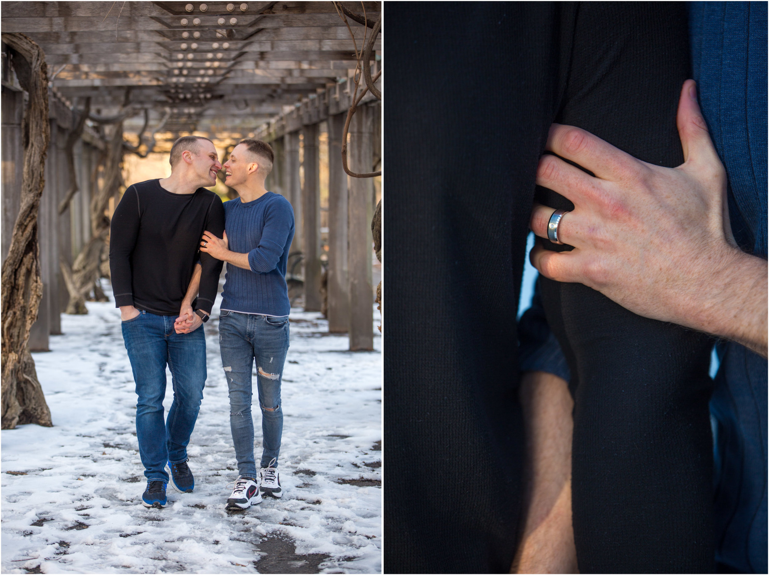 Central Park Engagement Gay NYC Wedding Photographer Same Sex Proposal