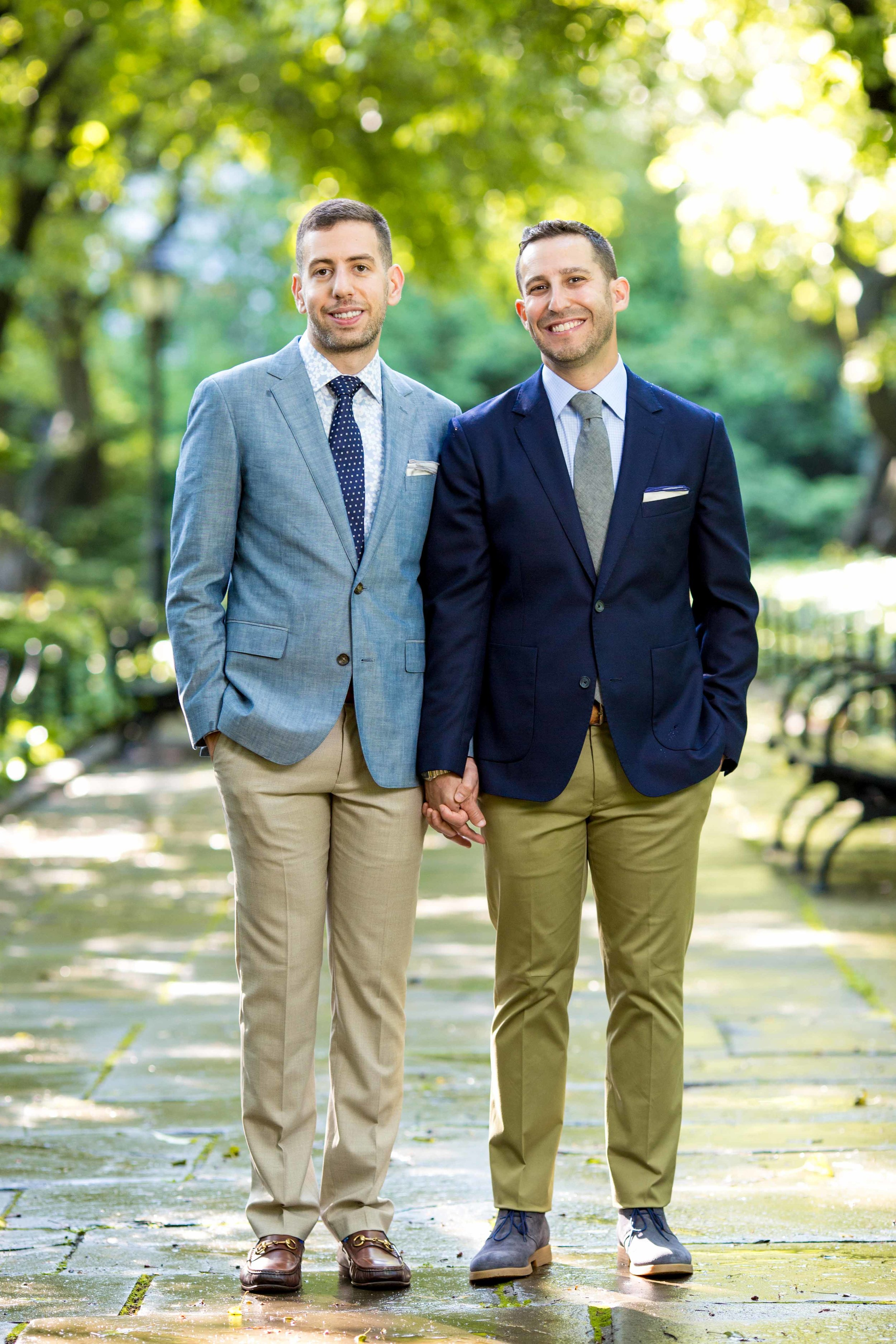 New York City NYC Wedding Photographer Engagement Photo Session Shoot Same Sex Gay Central Park Conservatory Garden