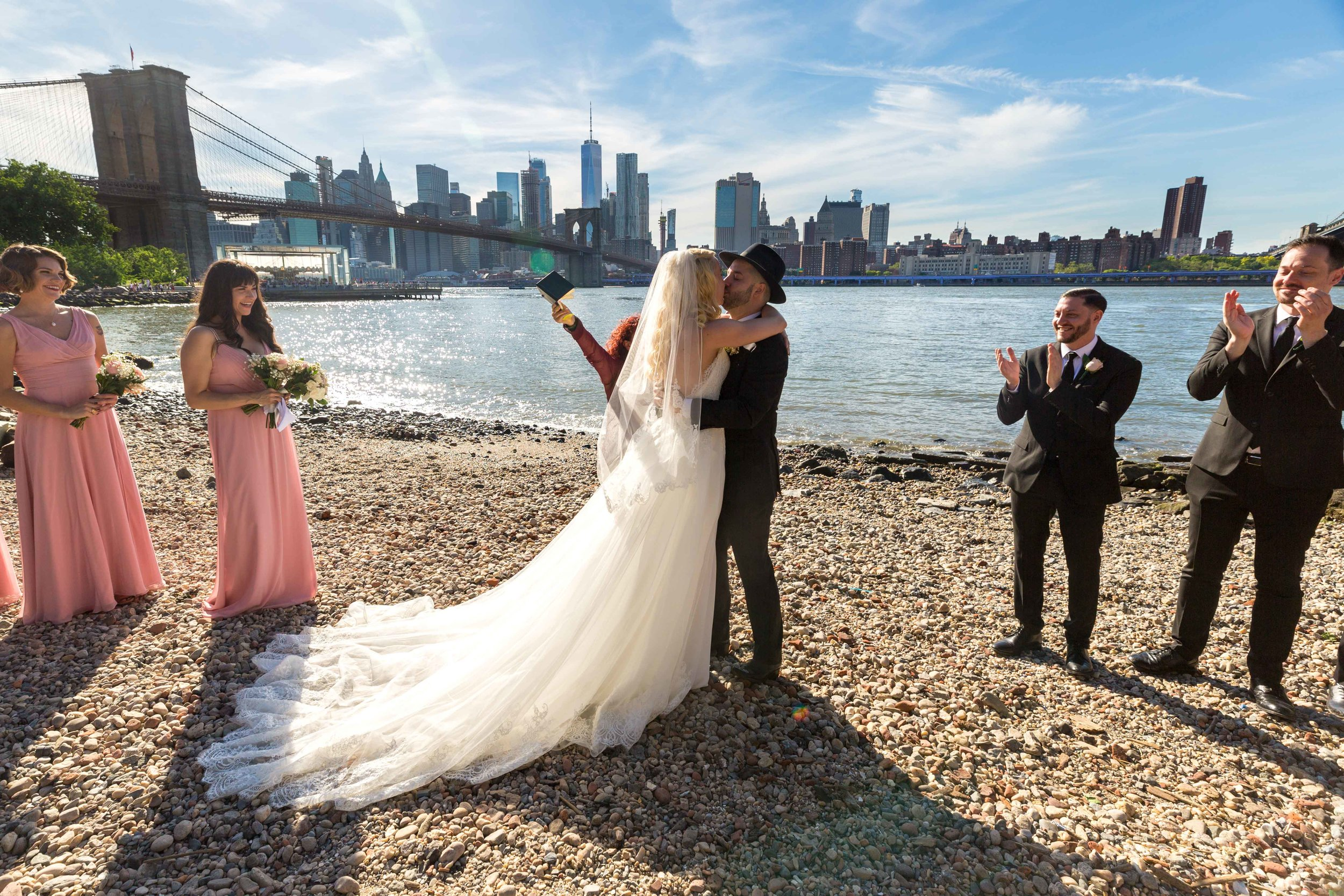 Dumbo Loft Wedding Brooklyn Bridge NYC New York City Photographer