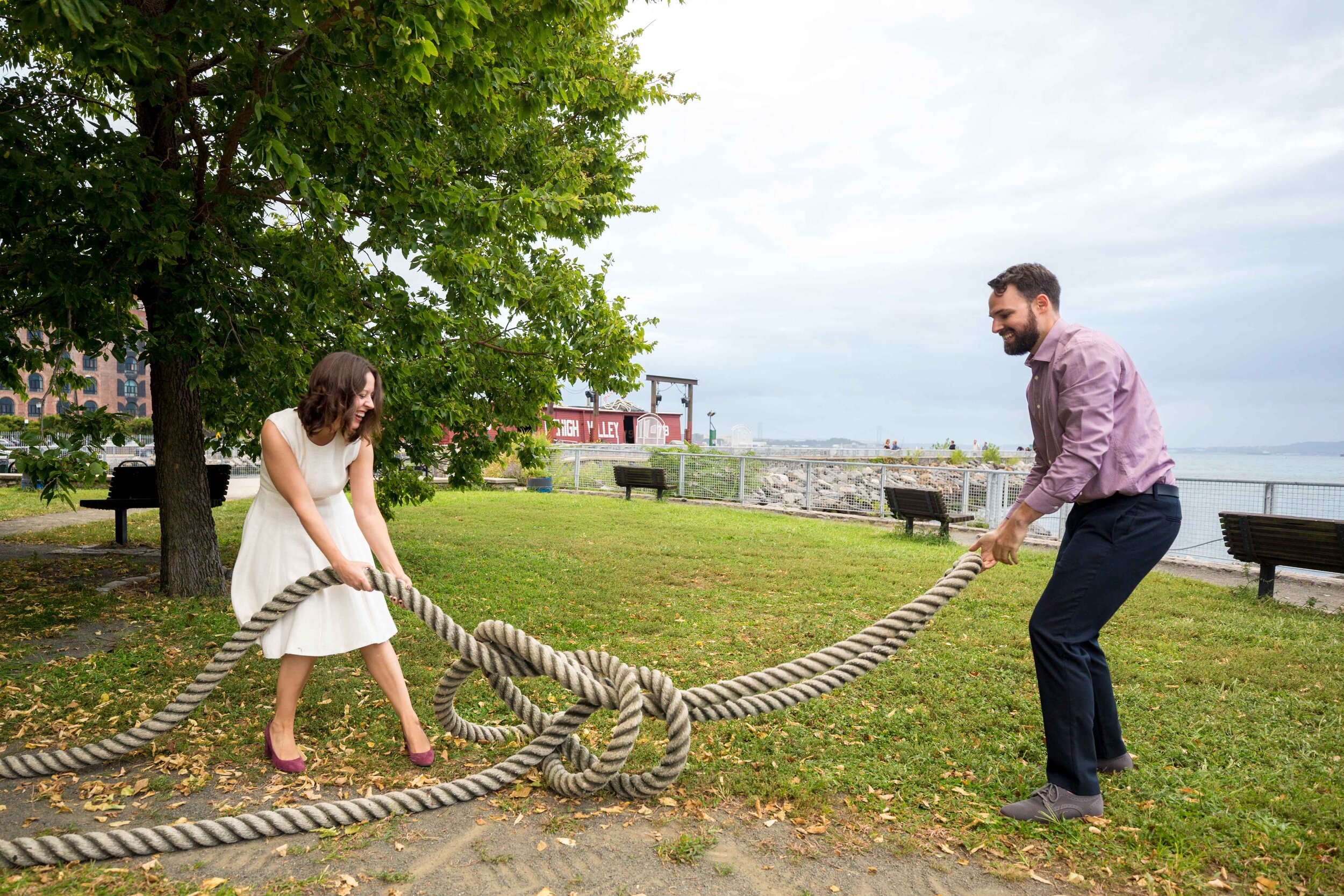 NYC Engagement Photographer New York City Wedding Photo Session Shoot Brooklyn Red Hook