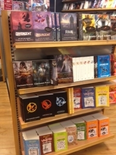 This one is from the airport in Auckland, New Zealand. Harry Potter series and John Green books were to the right with faces out.