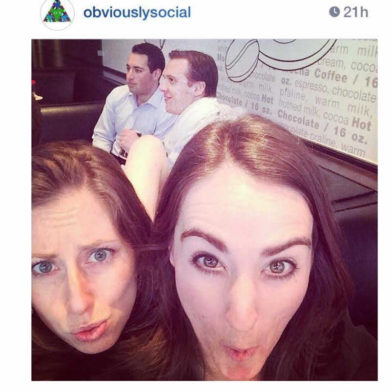 #REGRAM Director of Content Lucia Davis and I #hottiehunting over lunch