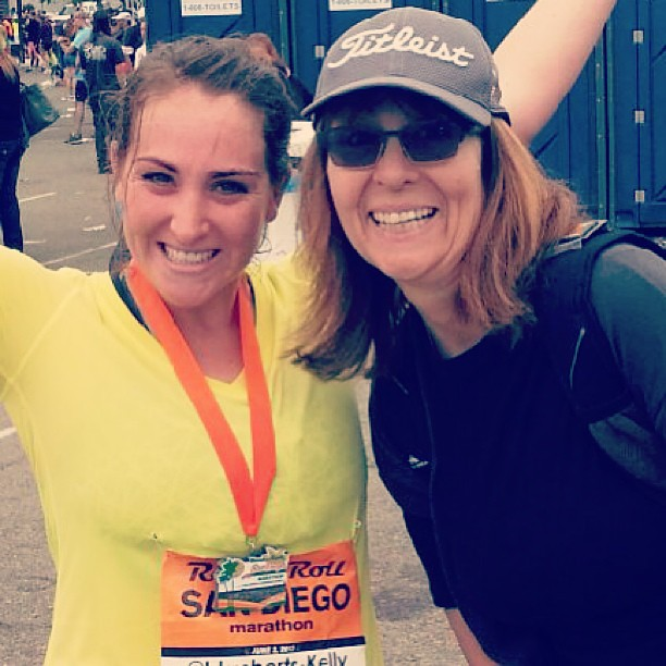 Me and my Mommy after my first marathon! (Exercise gives you endorphins.)