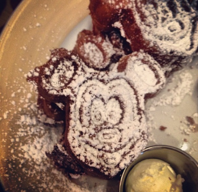 Pretty much why anyone goes to a character breakfast, for mickey waffles.