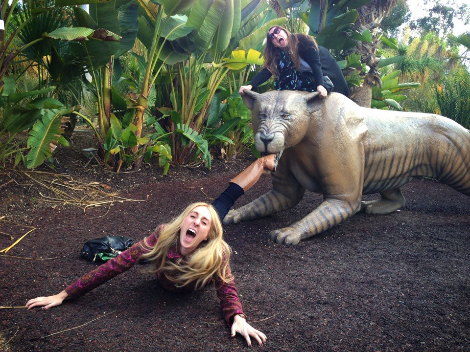 This is me saving my sister's life from a saber tooth tiger.