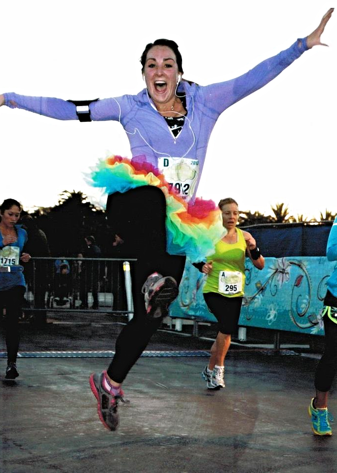 At the finish line of my very first half marathon.