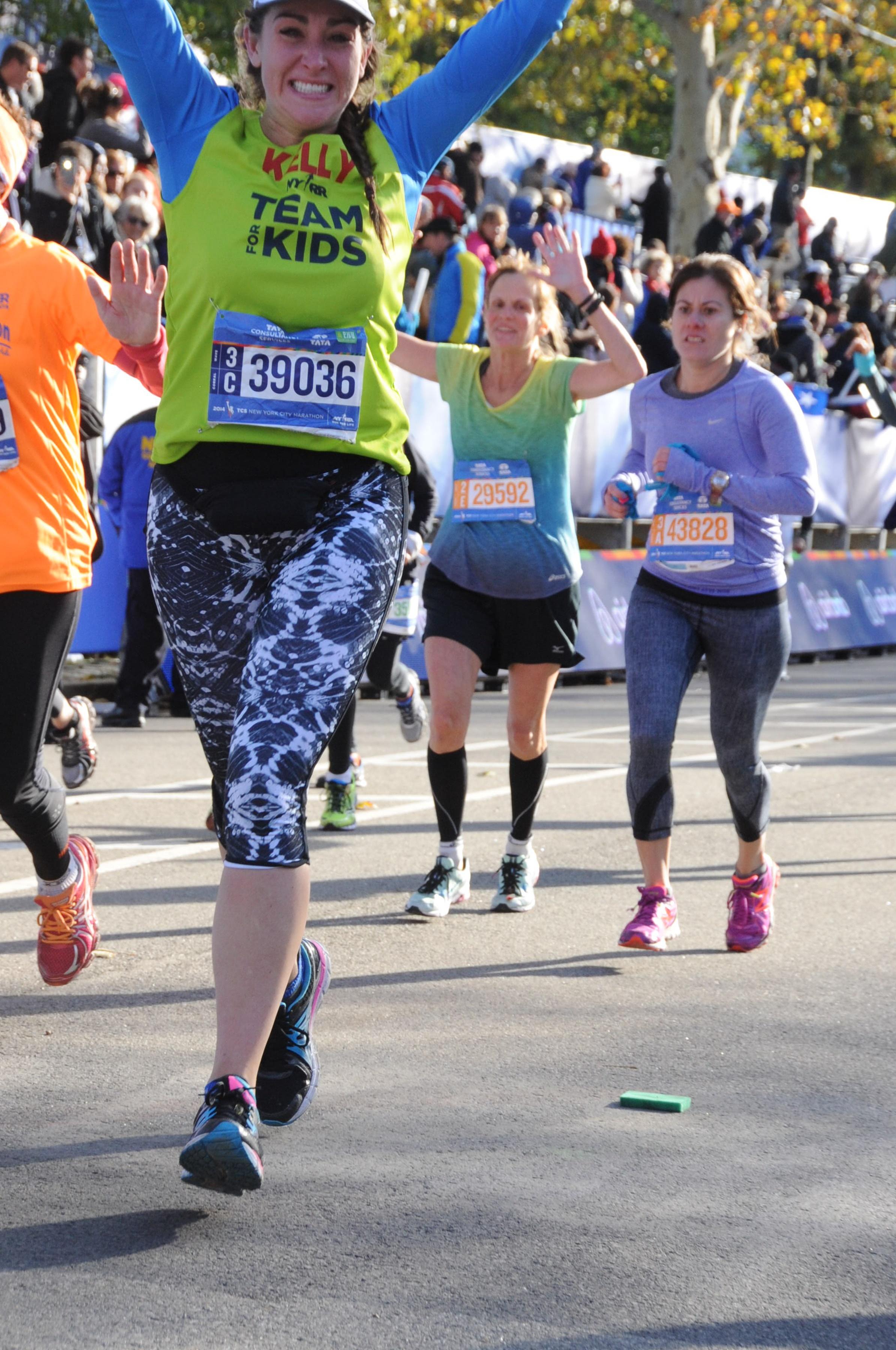 Kelly Roberts NYC Marathon Finish Line