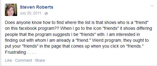 Understanding Friends On Facebook