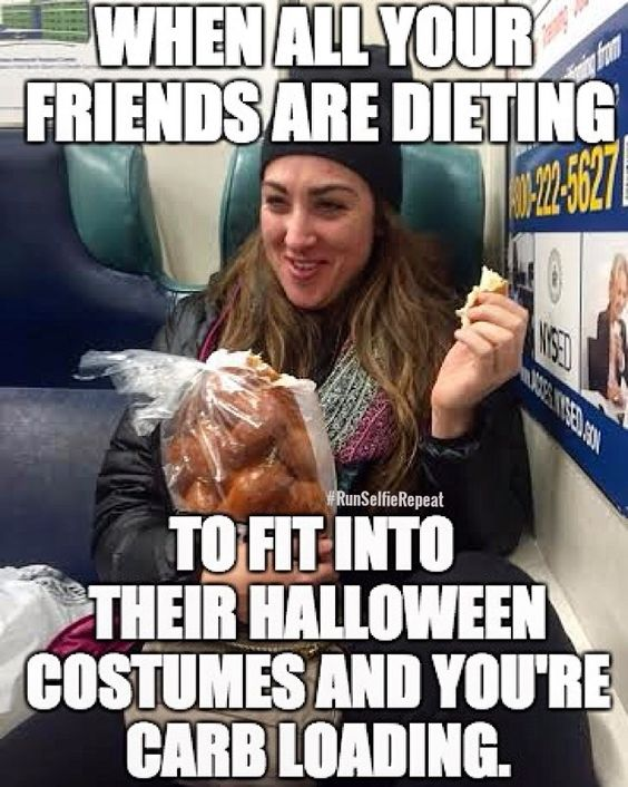 Kelly Roberts carb loading meme