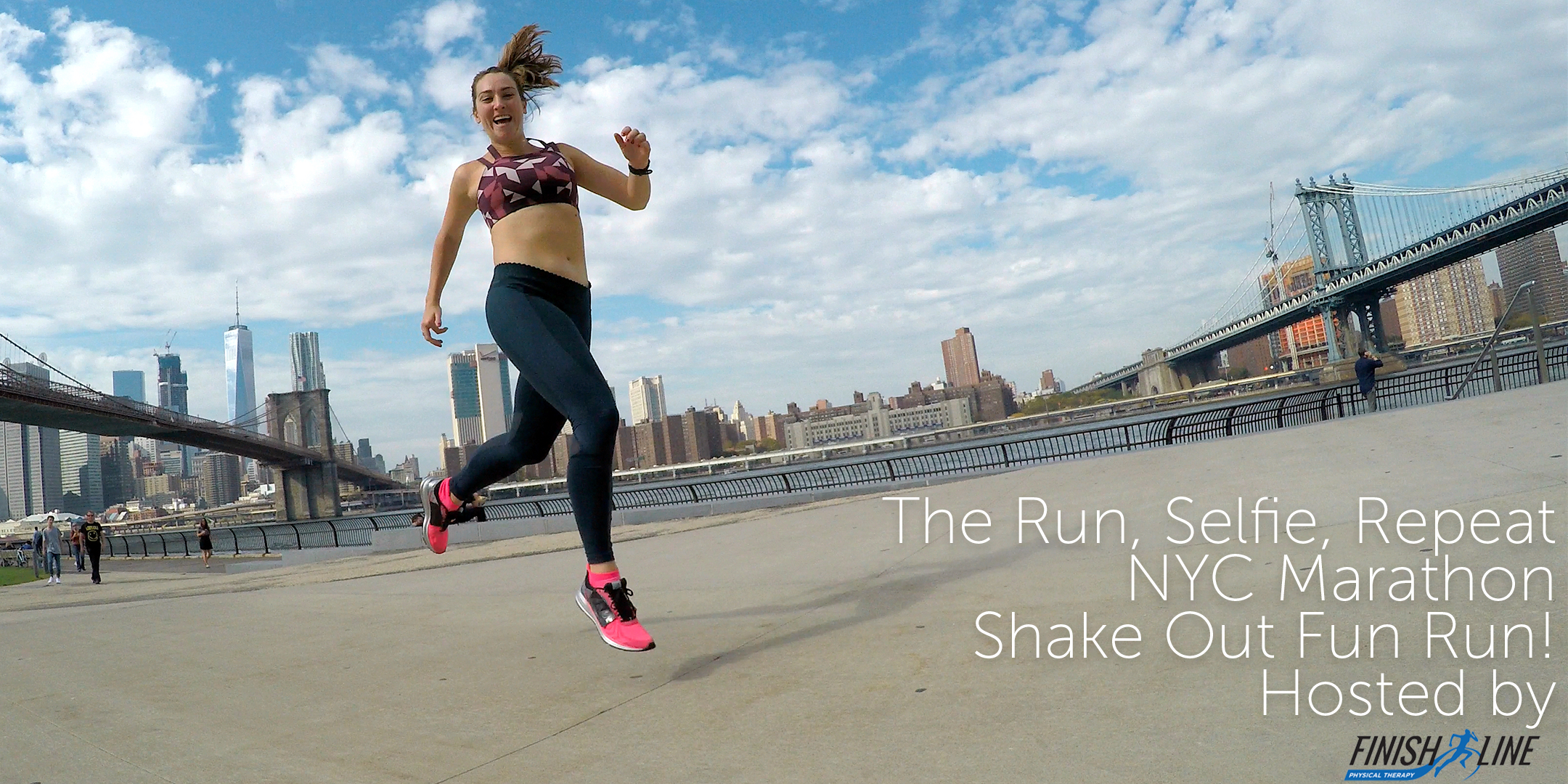 Kelly Roberts NYC Sports Bra Squad Shakeout Run