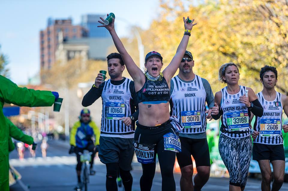 Running a marathon and having fun. WHO KNEW THAT WAS POSSIBLE?