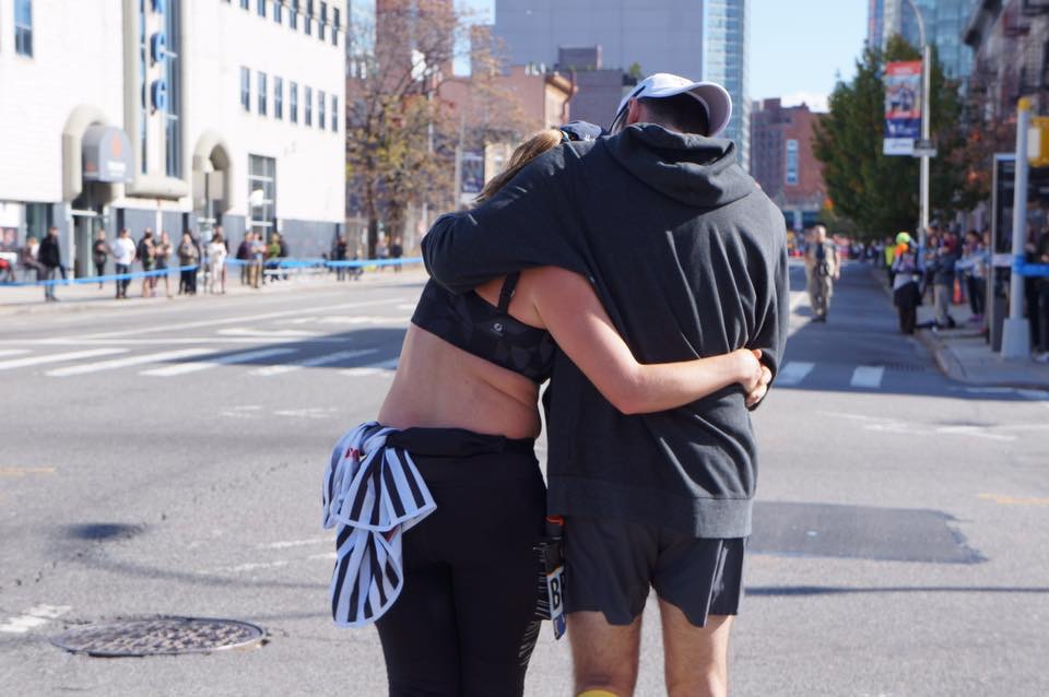Me doubting whether or not I was going to finish the New York City Marathon after my hip blew up. Luckily, I have the greatest  coach in the whole entire world Josh Maio who told me to just look at it like a victory lap, to take my time, and to have fun. He is a good human.