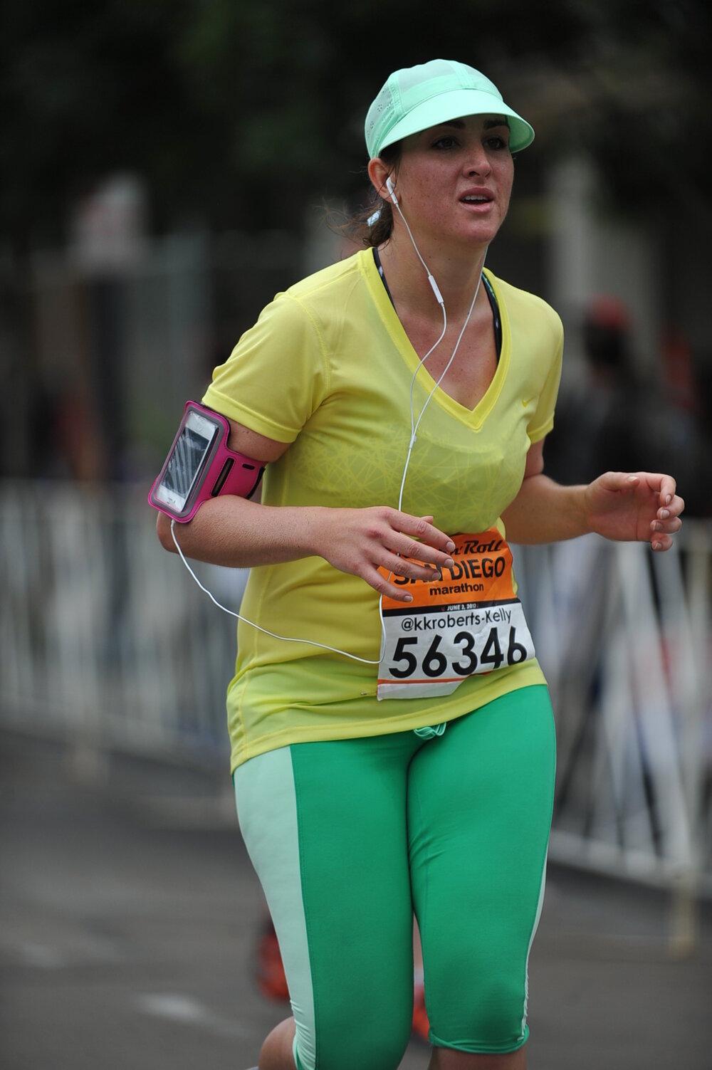 My first marathon. Trying to survive.
