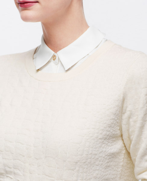 ann taylor animal jacquard sweatshirt