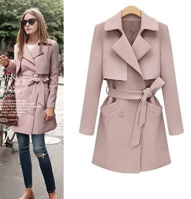 Goodnight Macaroon pastel pink structured trench, as seen on Olivia Palermo