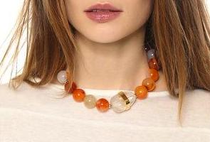 lizzie fortunato marrakech sunset necklace
