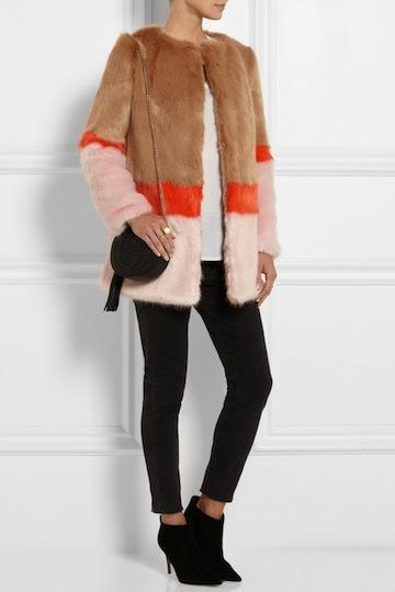 shrimps, mabel color-block coat, $995 (faux)