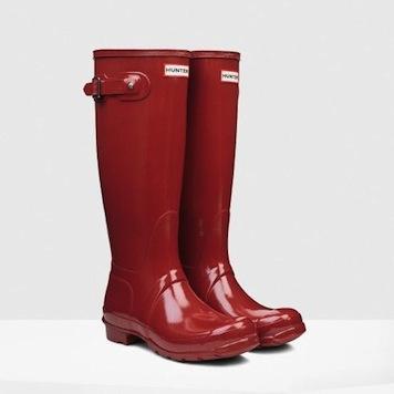 hunter, original tall gloss rain boot, $148