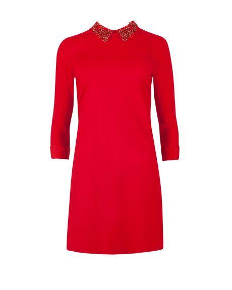 ted baker, cassye embellished collar dress, $248
