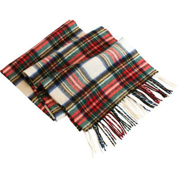 the vermont country store, irish lambswool plaid scarf, $39.95