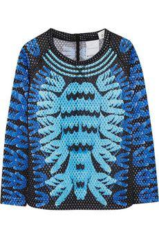 adidas originals + mary katrantzou, monster marathon mesh sweatshirt, $200