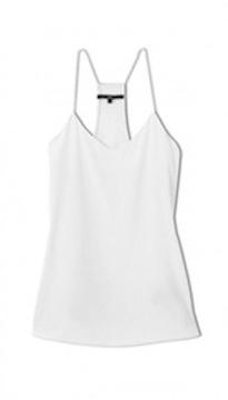 tibi, signature silk camisole, $158 (also in black)