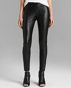 hue leatherette leggings, $48