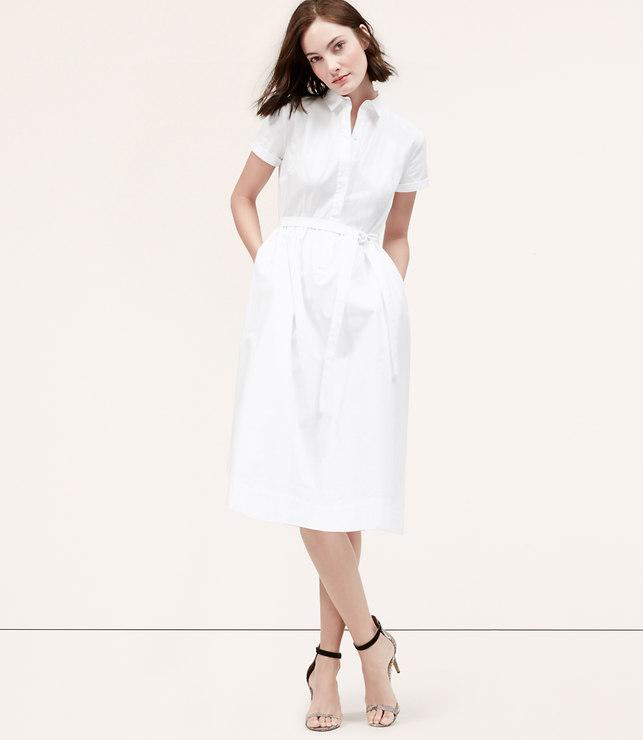 loft, softened shirt dress, $79.50