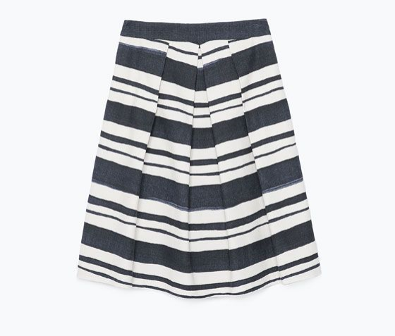 zara striped pleated skirt, $79.90 (i also love  this )
