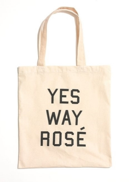 yes way rosé tote, $22