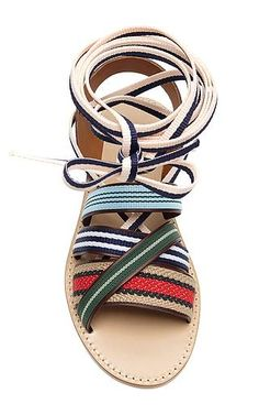 band of outsiders strappy multicolor ankle-tie sandals, $450