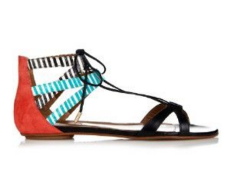 aquazzura beverly hills leather and snakeskin sandals, $587