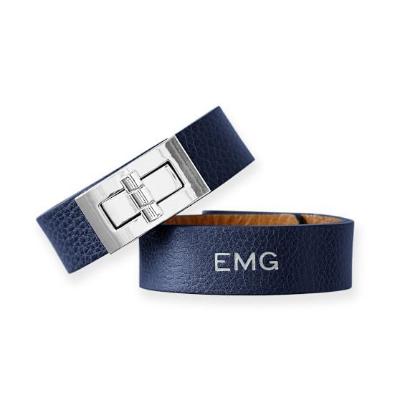 mark & graham leather turnlock bracelet, $89