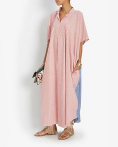 lisa marie fernandez striped caftan, $450