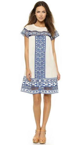 sea cutout embroidered dress, $261(also available  here )