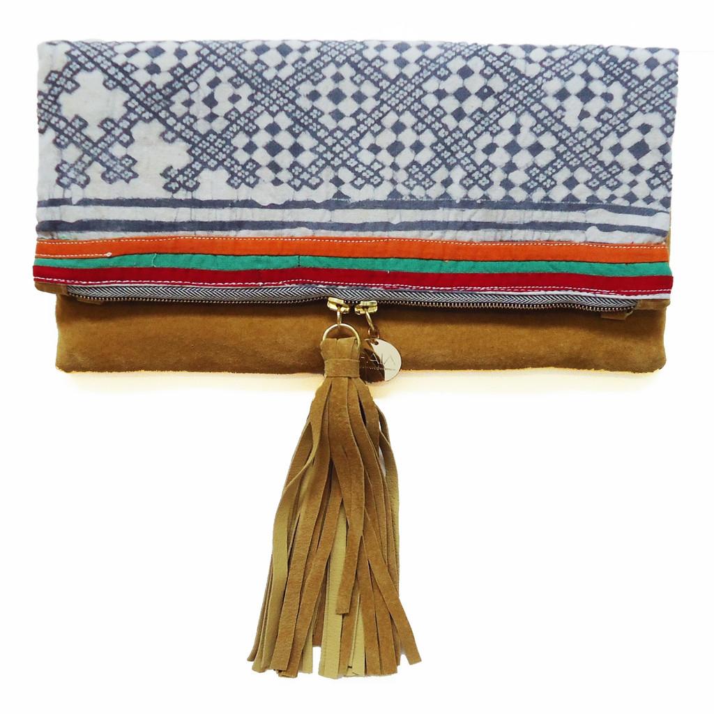 GAIA one love fold over clutch, $148