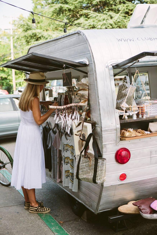 monica coakley checks out the clubhouse caravan [image via 7  on locust ]