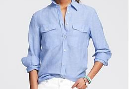 banana republic soft-wash linen shirt, $79.50 (40% off with code: BRSAVE)