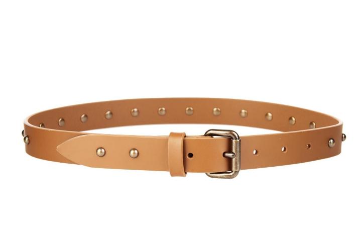 tomas maier studded leather belt, $166
