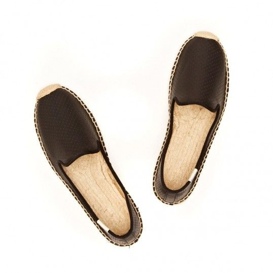 soludos perforated leather smoking slippers, $100