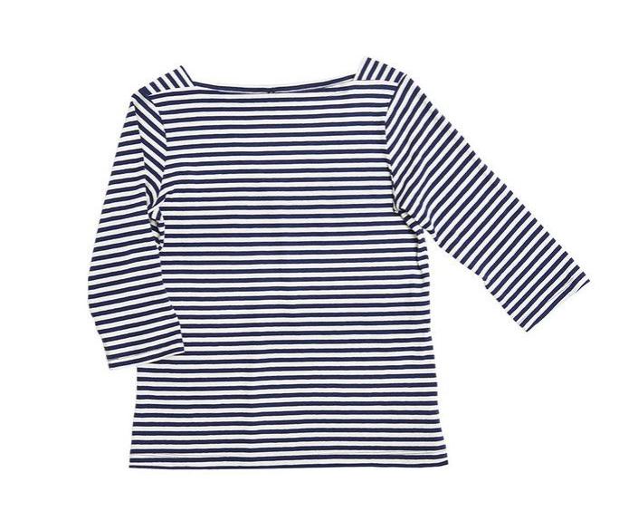 mds stripes charlotte boatneck, $95