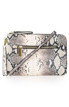 topshop snake print faux leather clutch, $48-- compared to proenza schouler leather lunch bag, $935