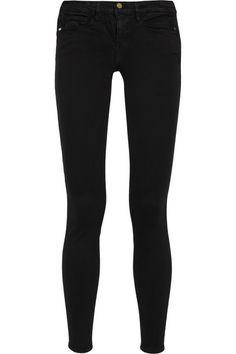 frame denim le skinny de jeanne, $185 --compared to rag & bone/jean georgie leather pant, $990