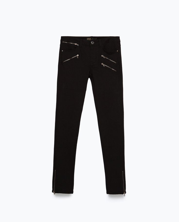 zara powerstretch biker jeans, $49.90