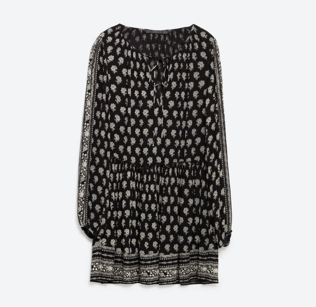 zara printed dress, $29.90
