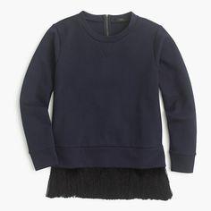 j. crew sweatshirt with fringe hem, $79.50